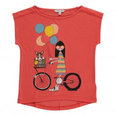 T-Shirt Miss Marc Bicyclette Coquelicot