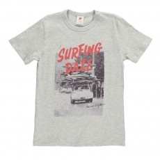 T-Shirt Planches Surf Gris chiné