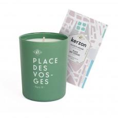 Bougie et pochette parfumées Place des Vosges - 185 g Vert