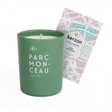 Bougie et pochette parfumées Parc Monceau - 185 g Vert