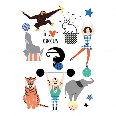 Image du produit Tatouages éphémères Cirque Multicolore