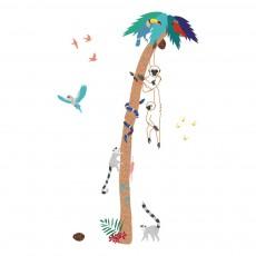 Sticker Into the jungle Multicolore