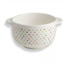 Bol en porcelaine à pois Bandjo Multicolore