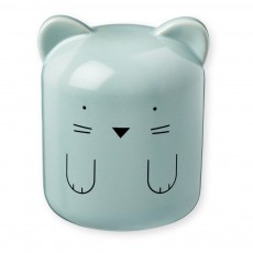 Tirelire en porcelaine Chat Bleu
