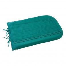 Housse de matelas à langer rond - Bleu turquoise