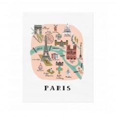 Affiche Rifle Paper Paris - 28x35 cm Multicolore
