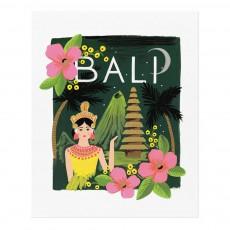 Affiche Rifle Paper Bali - 28x35 cm Multicolore