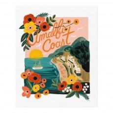 Affiche Rifle Paper Amalfi Cost - 28x35 cm Multicolore