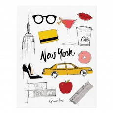 Affiche Rifle Paper New-York par Garance Doré - 28x35 cm Multicolore