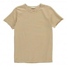 T-Shirt Rayé Poche Ocre