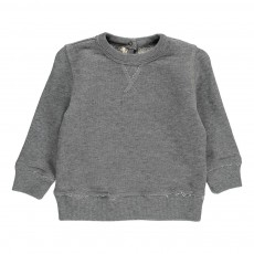 Sweat Col Rond Gris chiné