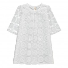 Robe Voile Brodé Blanc