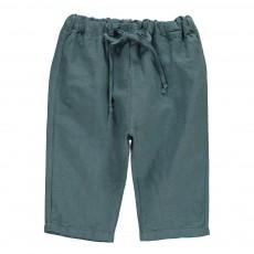 Pantalon Lien Taille Bleu pétrole