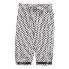 Pantalon Motifs Géométriques Goa Blanc