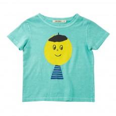 T-Shirt Smiley Artist Bleu turquoise