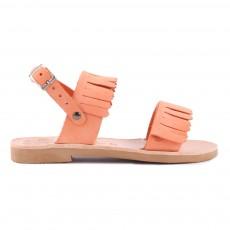 Sandales Cuir Anafi Tangerine