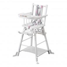 Chaise haute transformable - Laqué Blanc