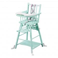 Chaise haute transformable - Laqué Vert amande
