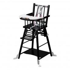 Chaise haute transformable - LaquéNoir