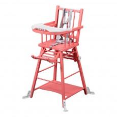 Chaise haute transformable - LaquéBouton de rose
