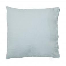 Taie d'oreiller en lin lavé Bleu pâle