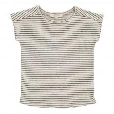 T-Shirt Lin Rayé Cisely Ecru