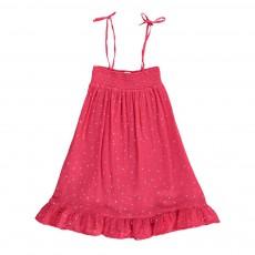 Robe Smockée Etoiles Almeria Rouge framboise