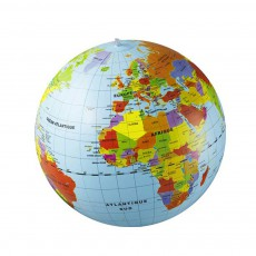 Globe gonflable pays 50 cm Multicolore