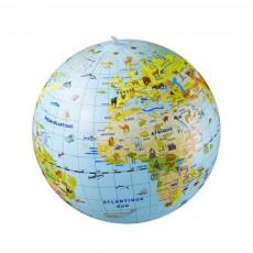 Globe gonflable 50 cm et jeux Quiz animaux Multicolore