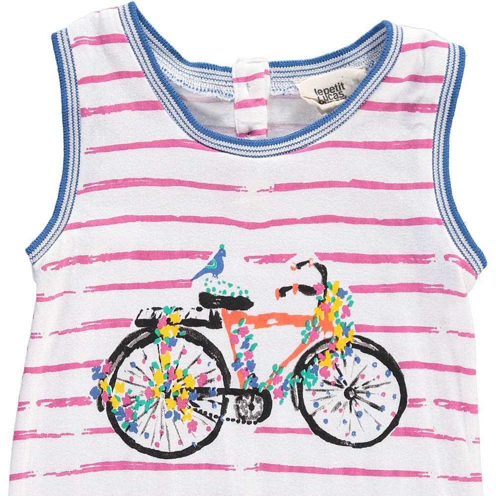barboteuse ray e bicyclette jose rose le petit lucas du tertre mode b b smallable. Black Bedroom Furniture Sets. Home Design Ideas