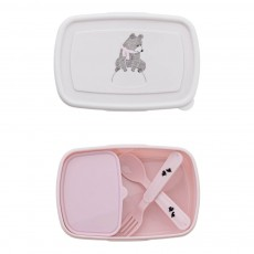 Lunch box avec couverts Rose