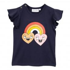 T-Shirt Coton Bio Arc en Ciel Bleu marine