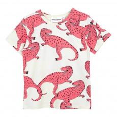 T-Shirt Coton Bio T-Rex All Over Rose