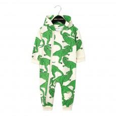 Combinaison Coton Bio Capuche T-Rex All Over Vert