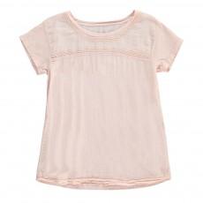 T-shirt Détails Brodés Texan Rose pâle