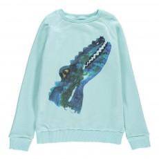Sweat Crocodile Bleu ciel
