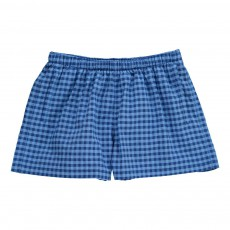 Short De Bain Carreaux Mastic Bleu