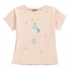 T-Shirt Mademoiselle Ida Rose pâle