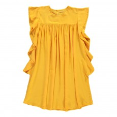 Robe Volants Dallas Ocre