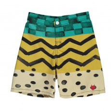 Short de Bain Race Jaune