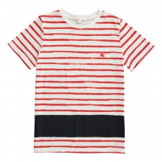 T-Shirt Rayé Edy Rouge
