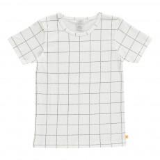 T-Shirt Carreaux Blanc