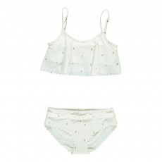 Maillot 2 Pièces Ananas Blanc