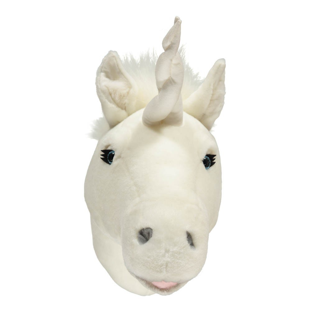 Troph e licorne blanc bibib d coration smallable for Decoration murale licorne