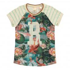 T-shirt Bi-matières Tropical Rose pâle
