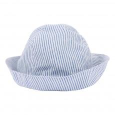 Chapeau Rayé Bleu