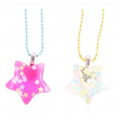 Collier BFF Etoiles Rose