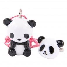 Collier et Bague Panda Blanc