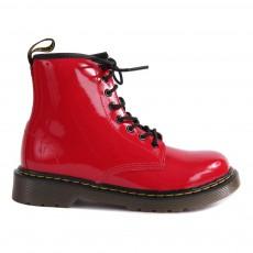 Boots Zippées Vernis Core Delaney Rouge