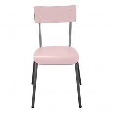 Chaise adulte Suzie pieds bruts - Rose poudré